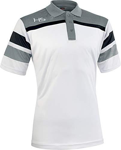 H&S HS Unisex-Erwachsene S13 Respect Polohemd, Bianco/Grigio/Nero, XXL