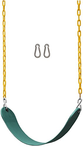 Jungle Gym Kingdom Swing Seat Heavy Duty 66' Chain Plastic Coated - Playground Swing Set Accessories...
