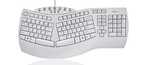 Perixx PERIBOARD-512W Periboard-512 Ergonomic Split Keyboard - Natural Ergonomic Design - White - Bulky Size 19.09'X9.29'X1.73' (Renewed)