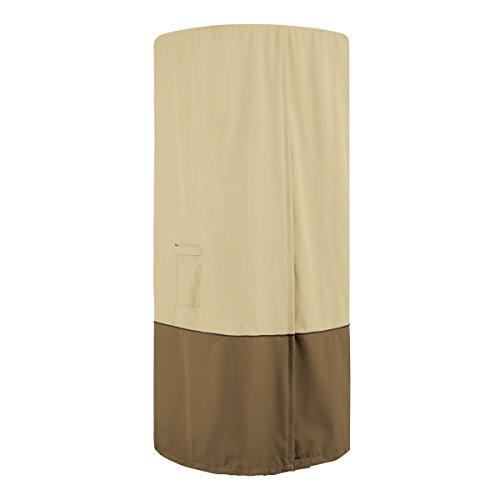 Classic Accessories Veranda - Calefactor de Patio Redondo Resistente al Agua 32 Pulgadas con Cubierta de Mesa
