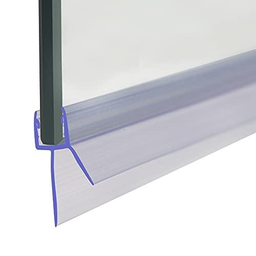 Daka - Junta para mampara de ducha (para cristal de 4-6 mm, espacio entre junta de 20 mm), color transparente
