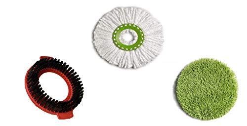 Kit de 3 cabezales de repuesto Twist and Clean Universal compatible con escoba Vadrouille Mop Heads Clean Twist Disc Mop Mop Mop Mop Mop Mop Mop Mop Giratorio Spin Mop de 360 °