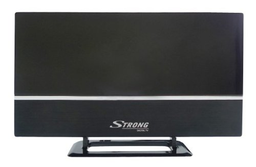 STRONG SRT ANT 30 Zimmerantenne (DVB-T2, DVB-T, horizontaler und vertikaler Empfang durch universellen Antennenständer, externer 20 dB Verstärker mit LTE Filter 4G, HDTV, Full HD, HD) schwarz