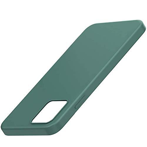 Zarfmiya Funda para 12, Funda para 12, Funda de Silicona para TeléFono a Prueba de Golpes con Forro de Microfibra (Verde Oscuro)