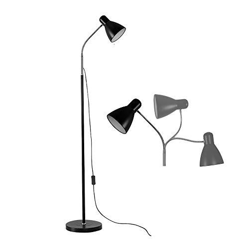 QJUZO Lampara de pie LED Regulable Moderno Lámpara de Pie Salon con Control Remoto y Cuello Flexible E27 1200LM 3000k-6000K para el Hogar, Sala de estar, Oficina, Escritorio, Dormitorio