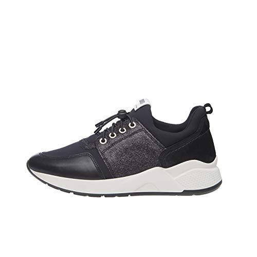 NeroGiardini A909031D Sneakers Donna in Pelle E Camoscio - Nero 40 EU