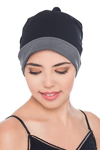 Deresina Headwear Reversible Beanie (Noir-Grau)