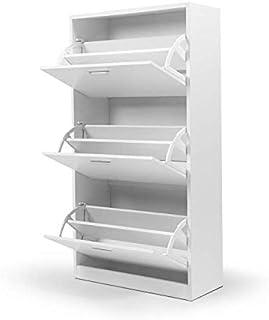 IDMarket - Meuble à chaussures 3 portes blanc