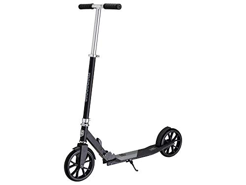 Mongoose Trace Youth/Adult Kick Scooter Folding and Non-Folding Design, Regular, Lighted, and Air Filled Wheels, Multiple Colors, Black/Grey, 205mm Wheels