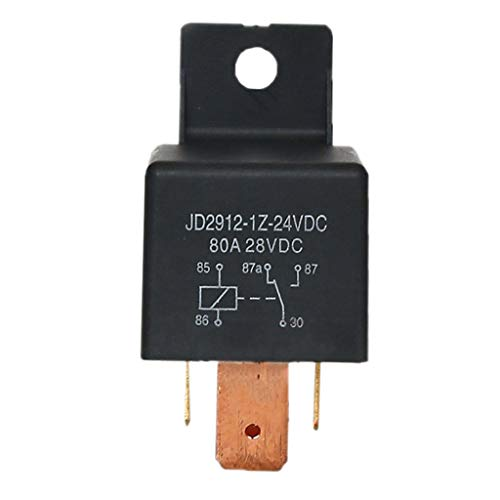 Brightz 5 Pines 80A 24VDC Voltaje SPDT Interruptor de relé for los Coches