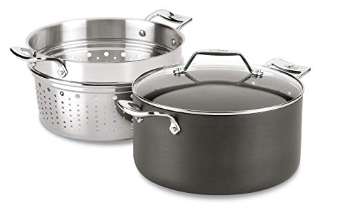 All-Clad Essentials Nonstick Multipot with insert, 7-Quart, Grey