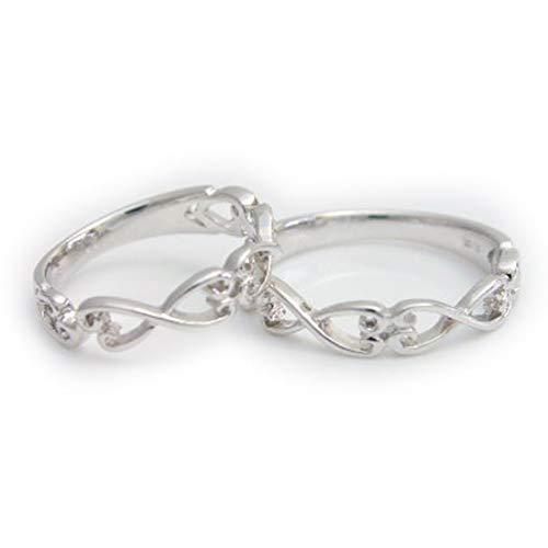[ココカル]cococaru ペアリング シルバー リング2本セット マリッジリング 結婚指輪 日本製 (レディースサイズ19号 メンズサイズ9号)