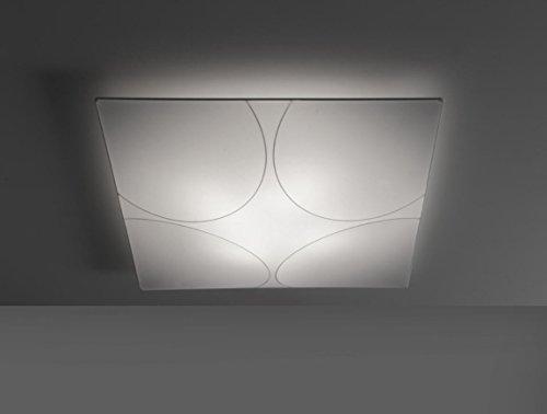 iBERGADA ILUMINACIÓN - Lámpara de Techo Plafón de Tela Elástica - Elegance 80x80 Color Blanco