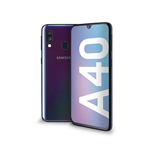 Samsung Galaxy A40 Smartphone, Display 5.9' Super AMOLED, 64 GB Espandibili, RAM 4 GB, Batteria 3100 mAh, 4G, Dual Sim, Android 9 Pie, [Versione Italiana], Nero