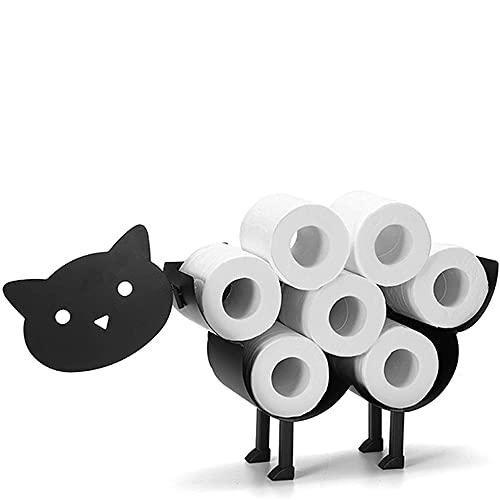 DJG Porta in Metallo A Forma di Animale Titolo in Metallo, Cane Cat in Metallo Montato A Parete O da Bagno in Piedi Deposito di Tessuti Assemblati Antiscivolo per Bagno Decorazione per La Casa,Cat