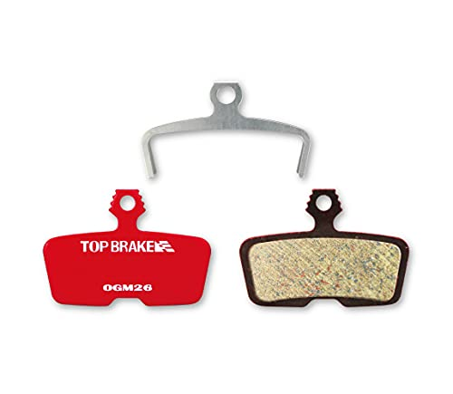 Top Brake Pastillas de Freno de Bicicleta para avid Code sram r/re/RSC, guía re (Compuesto e-Bici Potencia de Parada, orgánica Resina Compuesto) (Rendimiento orgánica Resina Compuesto-Rojo)