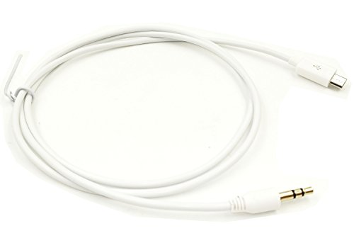 Wpeng Micro-USB to 3.5mm Audio Car AUX Cable for Samsung Galaxy S3 i9300 S2 i9100 i9220 (3.2 Feet = 1 Meter) (White)