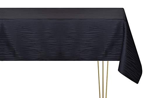 Mantel antimanchas de varios tamaños, formas y colores. Mantel redondo negro a rayas hecho a mano 100% poliéster mantel jardín 200 diámetro cm