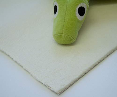 Steffensmeier Velours Teppichboden Palena Meterware | Auslegware für Kinderzimmer Wohnzimmer Schlafzimmer | Creme, Größe: 300x1000 cm