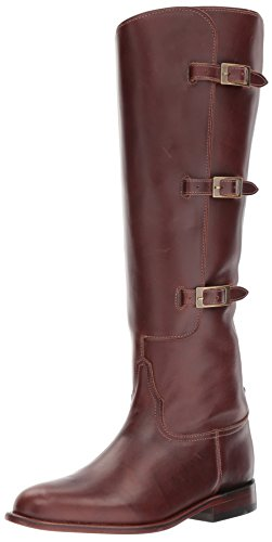 Lucchese Bootmaker Damen Bruna modischer Stiefel, Schokoladenbraun, 37.5 EU
