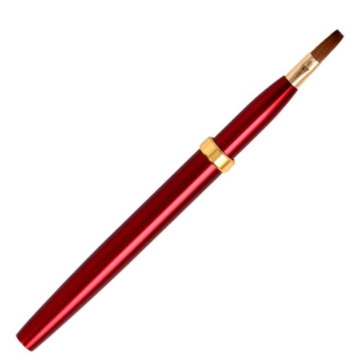 雑草自分の力ですべてをする成果広島熊野筆 オートリップブラシ 毛質 イタチ