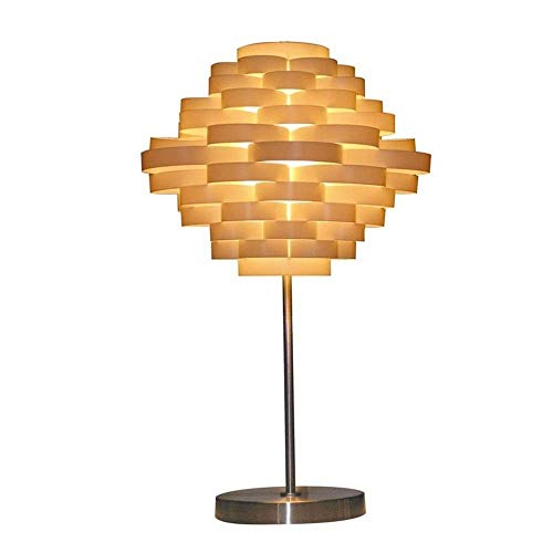 HtapsG Lámpara Escritorio Lámpara Moderna Minimalista Dormitorio mesita de Noche lámpara Sala de Estar Elegante botón Interruptor cálido 36 * 55.5cm