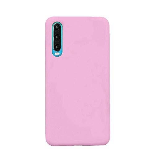 cuzz Custodia Samsung Galaxy A50+{Film di Vetro temperato}Silicone TPU Cover Morbida Protettiva Custodia Ultra Sottile Leggero Cover-Rosa Scuro