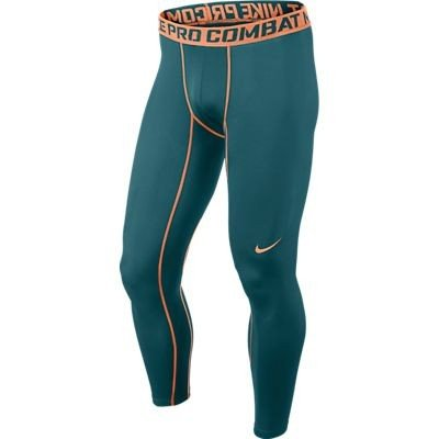 NIKE Herren Tight Pro Combat Core Compression 2.0, Night Factor/Atomic Orange, L, 449822-362