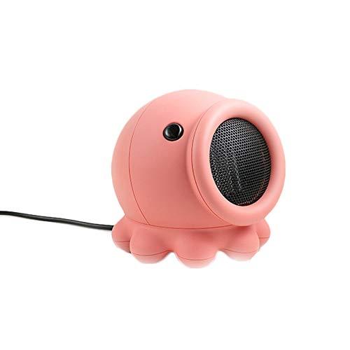 FAGavin heizgerät Octopus Bedside/Tragbare Mini-Krake Kann Modellierung/Start-Heizungen Elektro-Heizung Schütteln (Color : Pink)