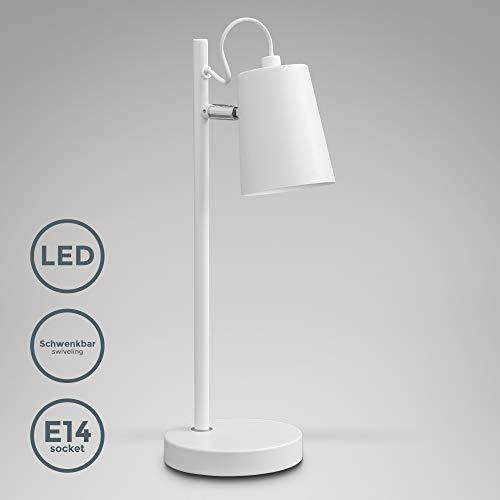 B.K.Licht Lámpara mesa pantalla tela I