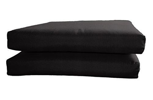 BHG Sunbrella Designer Sitzkissen, Messekante, Canvas, Schwarz, 2 Stück