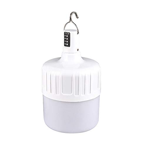 Apofly 1PC USB LED Luces de Carga, Luces de Emergencia, Bombillas LED Bombillas LED, Luces de Emergencia, Luces Decorativas Colgantes de Interior y Exterior