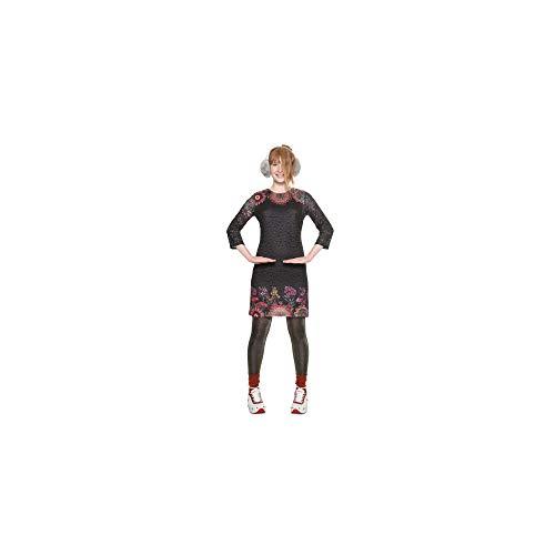 Desigual Vest_Jaipur Vestido, (Negro 2000), Medium para Mujer