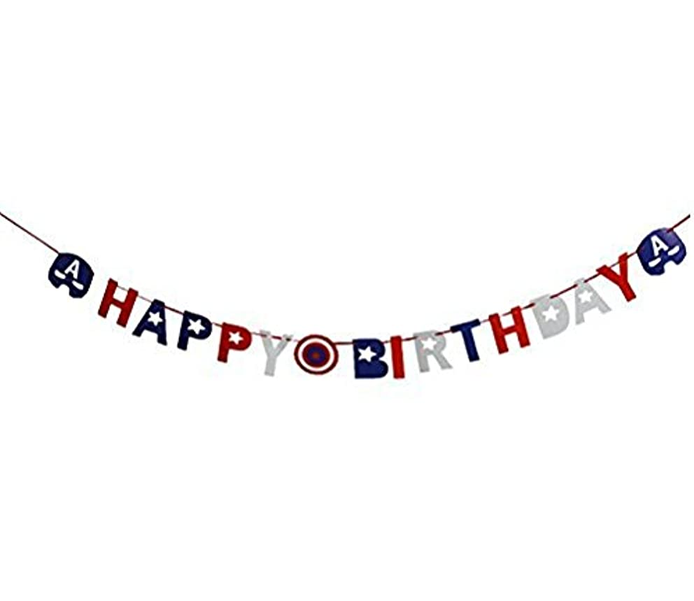 Astra Gourmet Avengers Superhero Happy Birthday Party Banner Bunting Banner Party Supplies