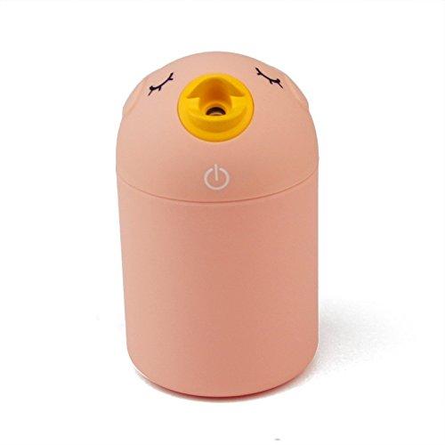 mini umidificatore auto ufficio creativo uccello anione USB compatto purificatore d'aria ad ultrasuoni , pink