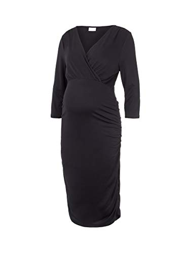 MAMALICIOUS Damen MLAIMY TESS 3/4 Jersey ABK Dress 2F A. Kleid, Black, M