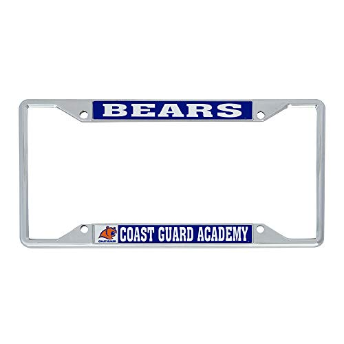 Desert Cactus United States Coast Guard Academy NCAA Metal License Plate Frame for Front or Back of Car Officially Licensed (Mascot)