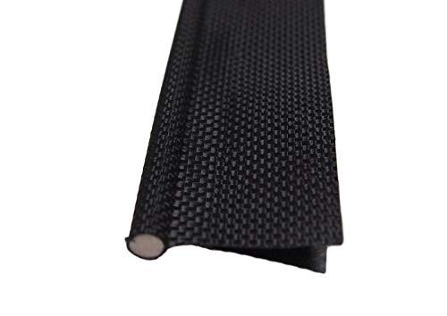 Markisen-Paspelierung, 6mm, schwarz, doppelter Keder, massiver Kern, für Camping/Zelt