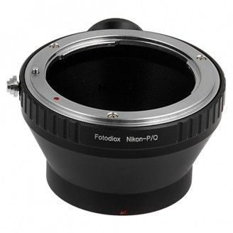 Fotodiox Lens Mount Adapter Compatible with Nikon, Nikkor Lens to Pentax Q de Series Camera, Fits Pentax Q Mirrorless Cameras