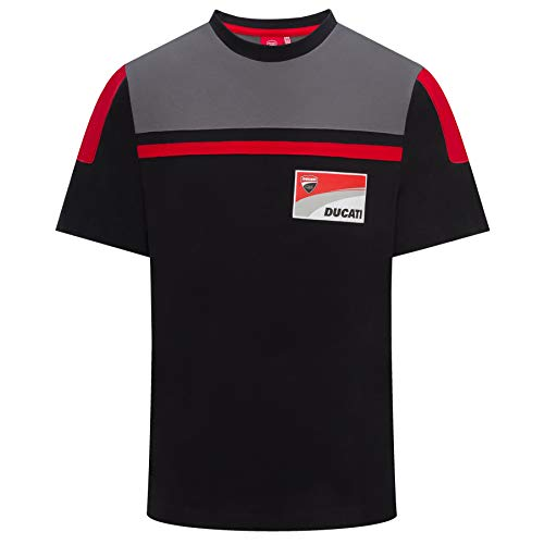 Ducati Corse 2019 Racing MotoGP Herren T-Shirt, 100% Baumwolle, Gr. S-XXXL, Schwarz - Schwarz - Mens (M) 102cm/40 inch Chest