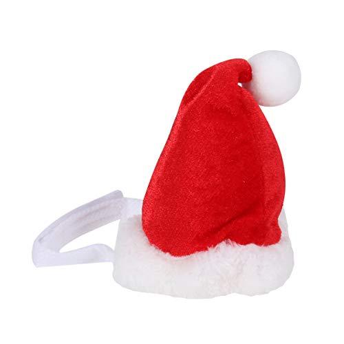 BESTOYARD Weihnachtsmann Weihnachtsmütze für Haustier Weihnachtsmütze Dekoration für Hund Katze Weihnachts Party Supplies