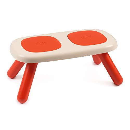 Smoby 880303 kinderzitbank, rood, design kinderzitbank, kinderzithoek van kunststof voor kinderkamers of geschikt voor smoby speelhuisjes, Made in France, rood