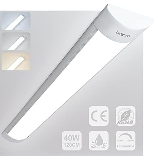 120cm 40W Tubos Led Techo Regulable por Interruptor (6500K-300K-4000K) Fluorescente Luz Cocina...