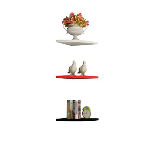 WLH- Fan - Shaped Partition Right - Hoek Corner Of The Shelf de schappen Free - Hole Wall - Mounted Decoratieve Flower Shelf Boekenkasten (Size : 25cm)