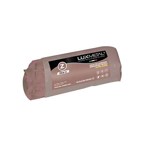 Pasta abrasiva lucidante solida Lux Metal Marrone Z ultra hard 350 grammi pre lucidatura sgrossatura elimina graffi ossido e ruggine per alluminio acciaio inox ottone rame bronzo