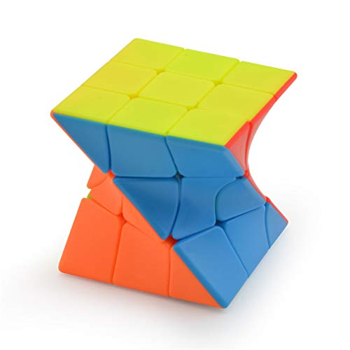 TAOUN Speed Cube, Twisted Cubos de Tercer Orden en Forma de Color Fluorescente Pegatinas Gratis Cubos educativos para niños, Puzzle Juego de Cerebro