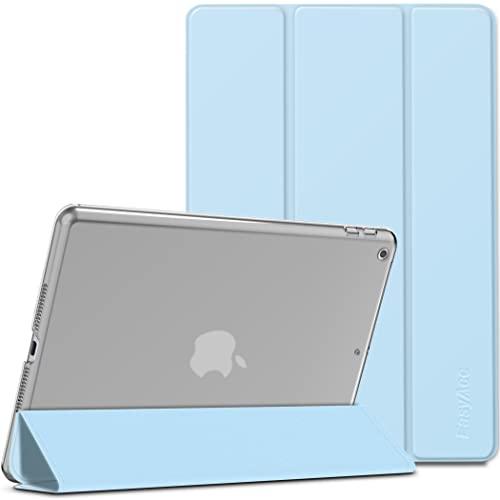 EasyAcc Funda Compatible con iPad 9 Generación/iPad 10.2 2021 2020 2019 /iPad 8. 7. Generación, Case Ultra Slim Carcasa Smart Cover PU Protector con Función Soporte Auto Sueño Estela, Azul Cielo