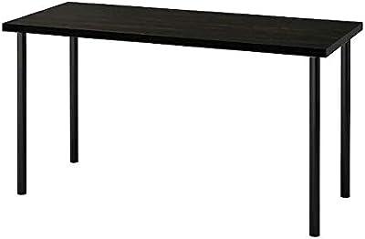 LAGKAPTEN/ADILS Desk, black-brown/black55 1/8x23 5/8
