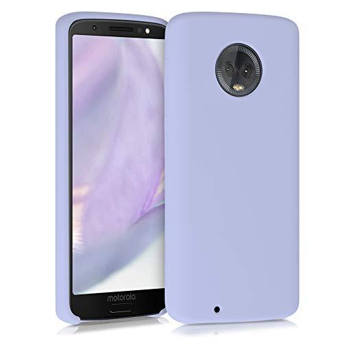 kwmobile Hülle kompatibel mit Motorola Moto G6 - Hülle Handyhülle gummiert - Handy Hülle in Lavendelgrau
