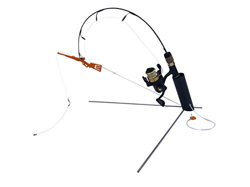 Catch-On Sure Shot Hooksetter and Rod Holder Combo for Ice Fishing, Tip Up, Ice Fishing Gear & Equipment, Fishing Accessories for Men & Women